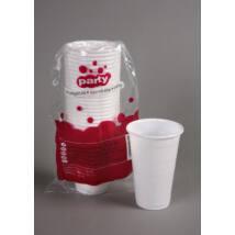Party műanyag pohár 3dl 20db-os fehér